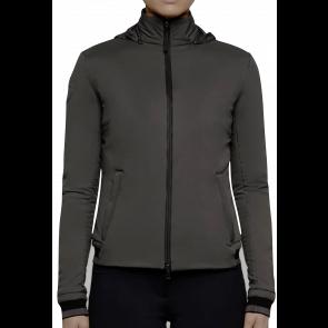 Cavalleria Toscana Nylon Stretch Puffer W/Detachable Hood Jacket Black