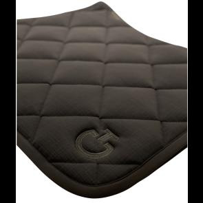 Cavalleria Toscana Jersey Quiltet Rhombi Dressurunderlag Sort med gråt mønster
