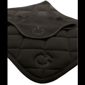 Cavalleria Toscana Jersey Quiltet Rhombi Springunderlag Sort med gråt mønster