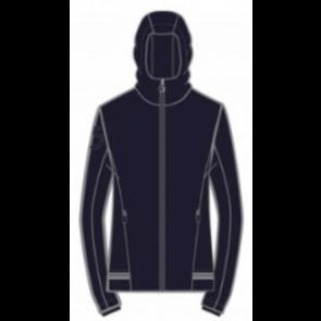 Cavalleria Toscana Nylon Hooded Jacket W/Rib Knit Insert Navy