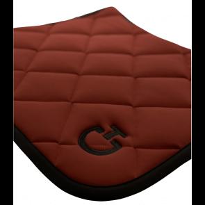 Cavalleria Toscana Jersey Quiltet Rhombi Dressurunderlag Bordeaux/sort
