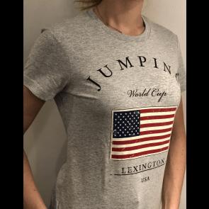 Eqvitatvs T-shirt Jumping Grå
