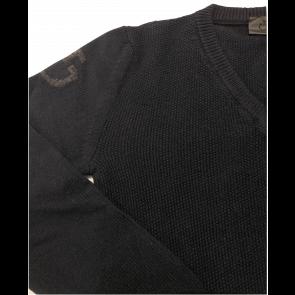 Cavalleria Toscana V-neck Seed Stitch Sweater Navy