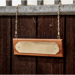 Kentucky Stable Name Plate Hanger