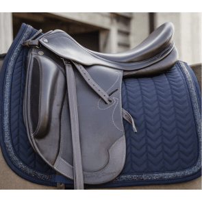 Kentucky Glitter Stone Show Dressage Saddle Pad Navy