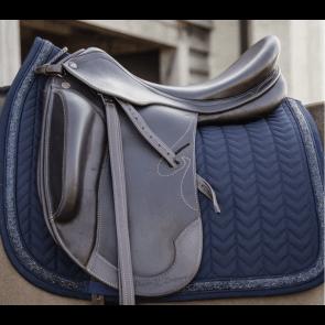 Kentucky Glitter Stone Show Dressage Saddle Pad Navy