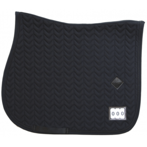 Kentucky Saddle Pad Fishbone Competition Show Jumping Black