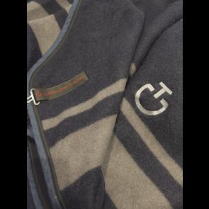 Cavalleria Toscana Stripe Wool Rug Blå/Grå