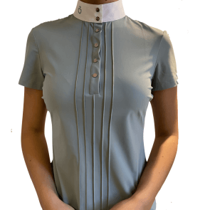 Cavalleria Toscana Pleated S/S jersey Competition shirt lys grøn