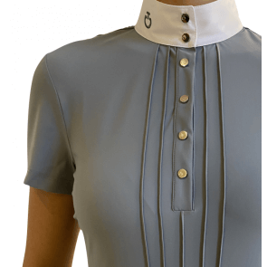 Cavalleria Toscana Pleated S/S jersey Competition shirt Grå