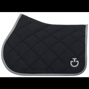 Cavalleria Toscana Jersey Quiltet Rhombi Springunderlag Navy/grå