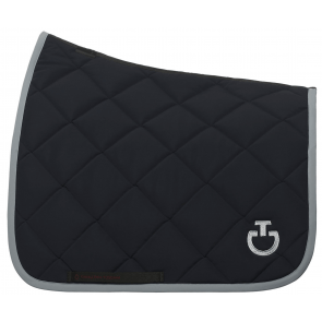 Cavalleria Toscana Jersey Quiltet Rhombi Dressurunderlag Navy/grå