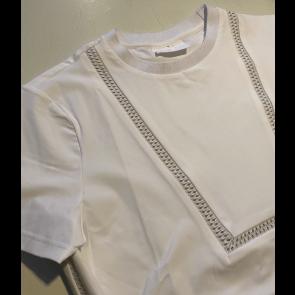 Cavalleria Toscana Front Bib Knit T-shirt Hvid