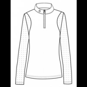 Cavalleria Toscana Jersey W/Perforated Insert Sleeve L/S Stævnetrøje Hvid
