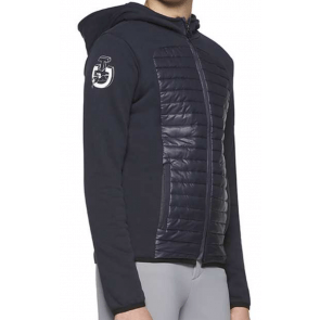 Cavalleria Toscana Quilted Nylon Hooded Zip Jacket Navy JR