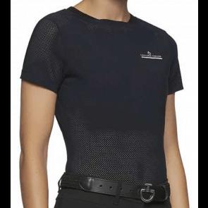 Cavalleria Toscana Perforated Jersey T-shirt Navy