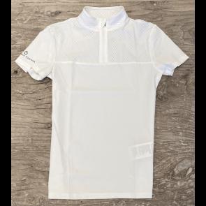 Cavalleria Toscana Perforated Outline And Collar S/S Jersey Stævnetrøje Hvid JR