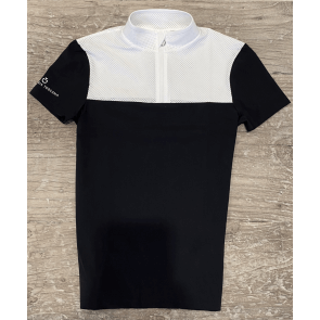 Cavalleria Toscana Perforated Outline And Collar S/S Jersey Stævnetrøje Navy JR