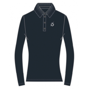 Cavalleria Toscana Team L/S Training Polo Navy