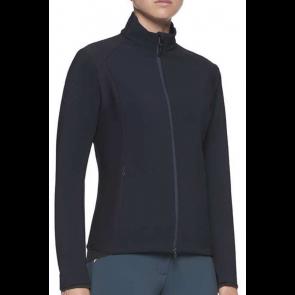 Cavalleria Toscana Piquet/Jersey Bonded With Lightweight Fleece Jacket Navy