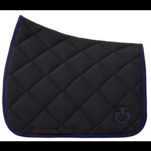 Cavalleria Toscana Jersey Quiltet Rhombi Dressurunderlag Sort/royal blå