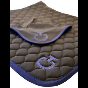Cavalleria Toscana Cirkular Quilted Springunderlag Sort/royal blå