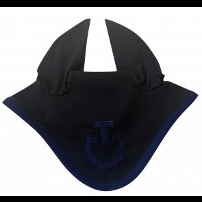 Cavalleria Toscana Light Weight Jersey Stripe Earnet Sort/royal blå