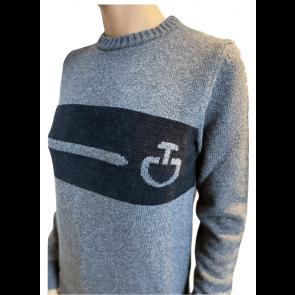 Cavalleria Toscana Eco Merinos Chenille CT Crew Neck Sweater Grey