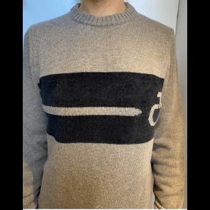 Cavalleria Toscana Eco Merinos Chenille CT Crew Neck Sweater Mud