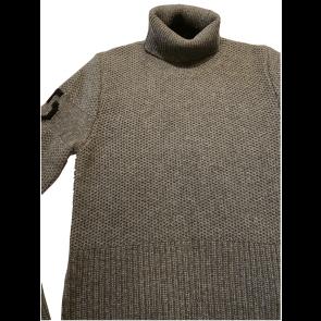 Cavalleria Toscana Eco Merinos Turtleneck Double Knit Sweater Grey