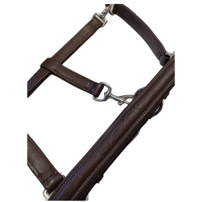 Dyon Soft Leather Head Collar Brun