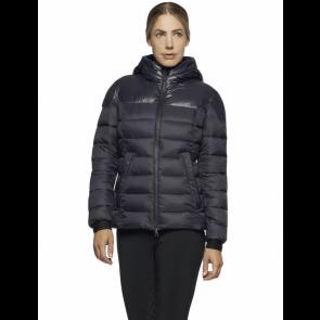 Cavalleria Toscana Nylon Hooded Puffer Jacket Navy