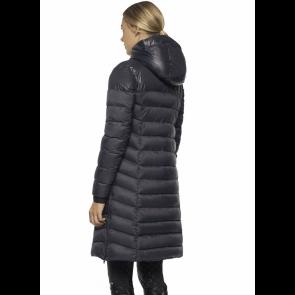 Cavalleria Toscana Nylon Hooded Long Puffer Jacket Navy