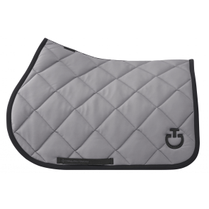 Cavalleria Toscana Diamond Quilted Jersey Jumping saddle Pad Grå