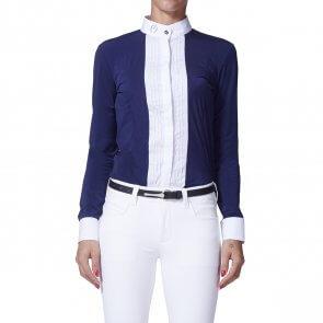Vestrum Langærmet Skjorte Nancy Navy/Hvid