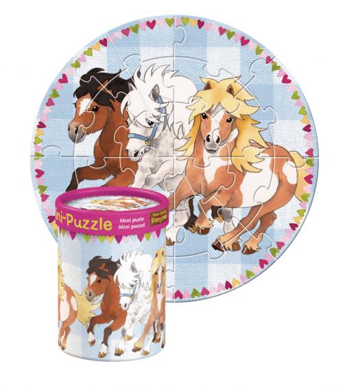 Sødt Mini-Pony Puslespil med 3 ponyer