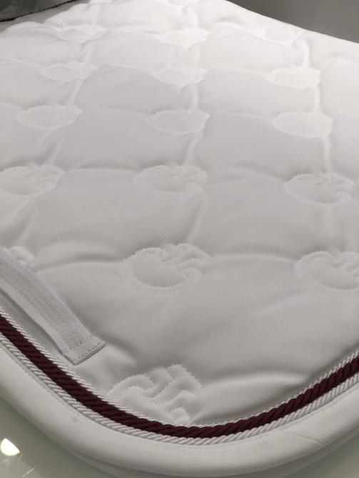Cavalleria Toscana Quilted CT Logo Jersey Dressurunderlag Hvid