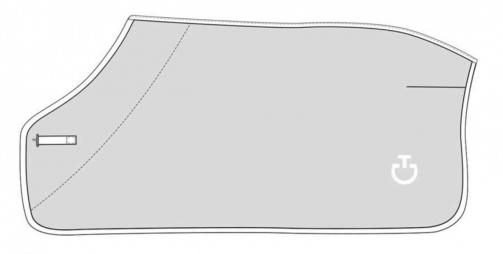 Cavalleria Toscana Fleece Stripe Rug Grå/hvid