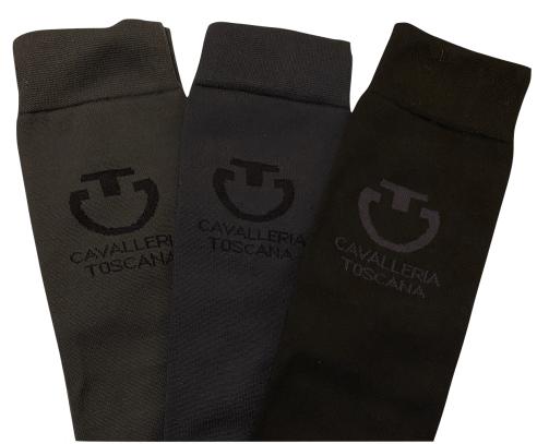 Cavalleria Toscana Light Full Logo Socks 3 Pak Mix Colours