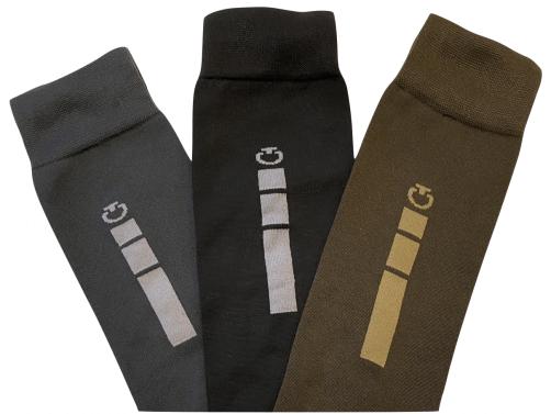 Cavalleria Toscana Triple Bar Sock 3 Pak Mix Colours