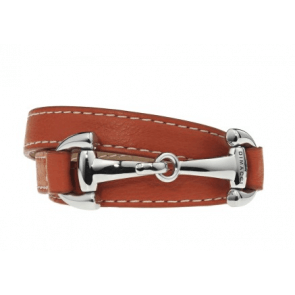 Diamacci armbånd orange med hestebid