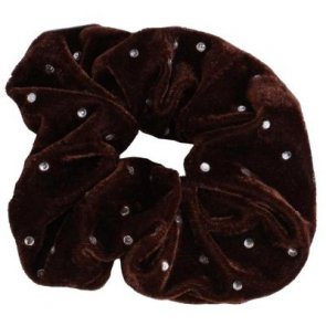 Skærlund Design Diamond Scrunchie Brun