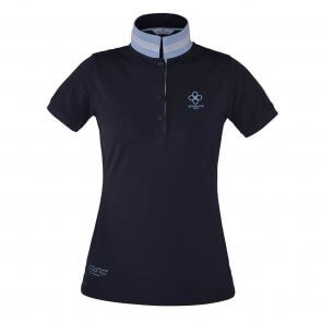Kingsland Cherry Recycled Ladies Pique Polo Navy