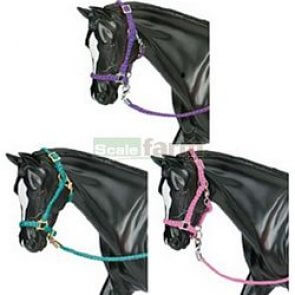 Nylon halters with lead rope
