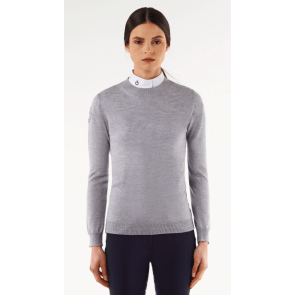 Cavalleria Toscana Tech Wool Fully-Fashioned Crew Neck Sweater Grey