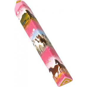 Viskelæder pen i lyserød
