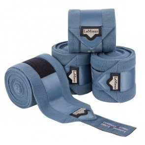 LeMieux Loire Satin Polo Bandager Ice Blue