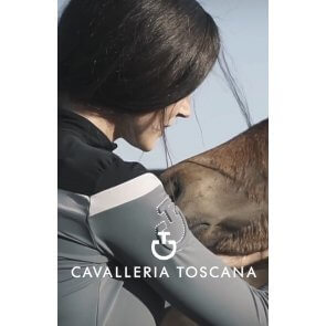 Cavalleria Toscana Multi Stripe Training Polo Grå