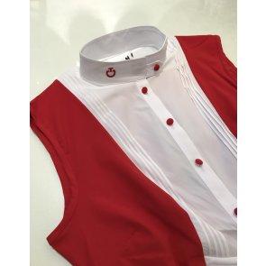 Cavalleria Toscana Techn Shirt W/BIB sleeveless rød