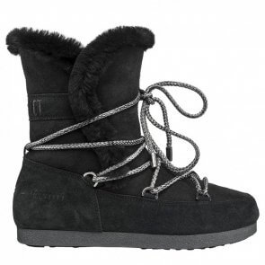 Moon Boot Far Side High Shearling Black